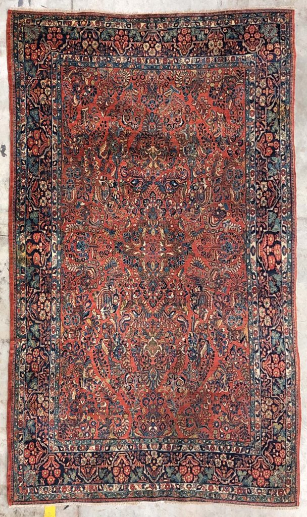 8 10 X 12 2 Red Navy Antique Persian Sarouk Hand Knotted